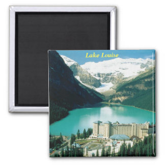 Lake Louise, Canada Square Magnet
