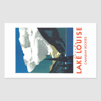 Lake Louise Canadian Rockies Canada Rectangular Sticker