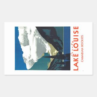 Lake Louise Canadian Rockies Canada Rectangular Sticker