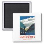 Lake Louise Canadian Rockies Canada Square Magnet