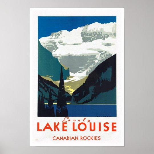 Lake Louise Canadian Rockies ~ Vintage Travel Poster