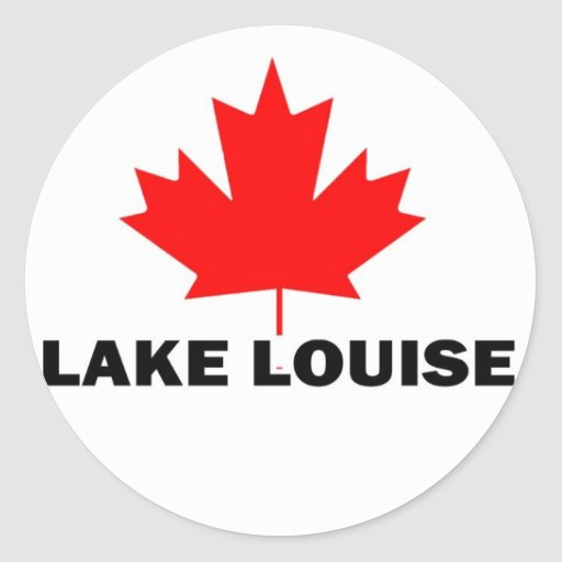 Lake Louise Round Sticker