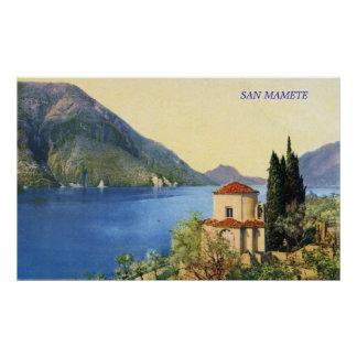 Lake Lugano San Mamete Print