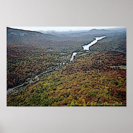 Lake Lure @ Chimney Rock Gloss Canvas Print