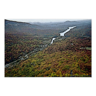 Lake Lure Chimney Rock Gloss Canvas Print