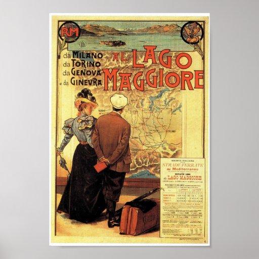 Lake Maggiore Vintage Travel Poster Print