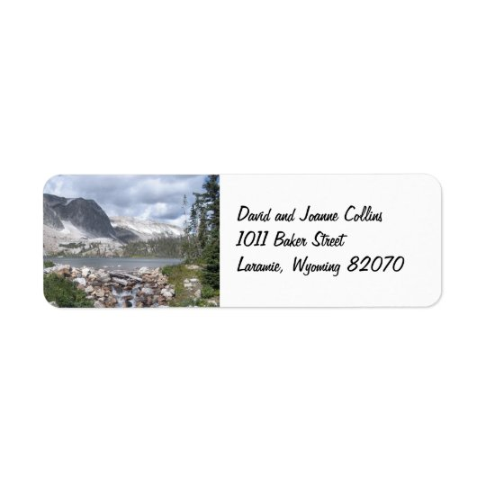 Lake Marie Mountains Return Address Labels
