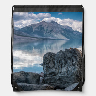 Lake McDonald Drawstring Bag