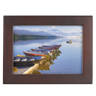 Lake McDonald, Glacier National Park, Montana, Keepsake Box