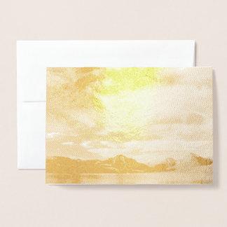 Lake McDonald in Gold Foil Design Foil Card