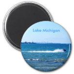 Lake Michigan 6 Cm Round Magnet