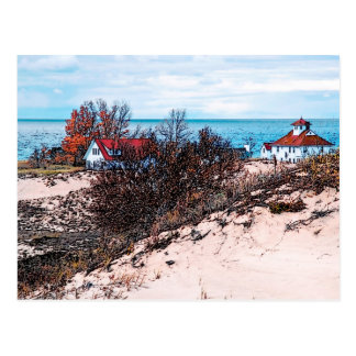 Lake Michigan Beach Houses Postcard