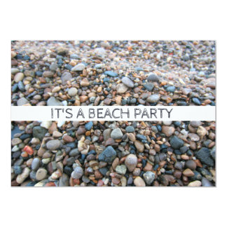 Lake Michigan Beach Rocks Pretty Shoreline Pebbles 13 Cm X 18 Cm Invitation Card