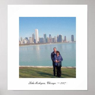 Lake Michigan, Chicago ~ 2007 Poster