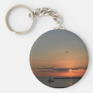 Lake Michigan Early Morning Sunrise Key Ring