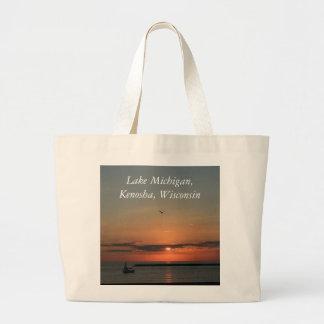 Lake Michigan, Kenosha, Wisconsin Jumbo Tote Bag