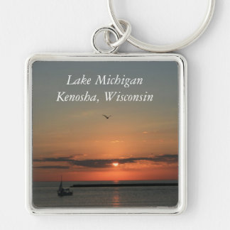 Lake Michigan, Kenosha, Wisconsin Key Ring