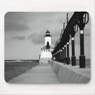 Lake Michigan Light House Mouse Pad
