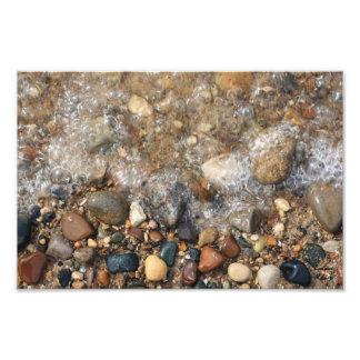 Lake Michigan Rocks in Water, Rock Hunting Photo Print
