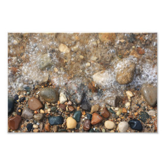 Lake Michigan Rocks in Water, Rock Hunting Photograph