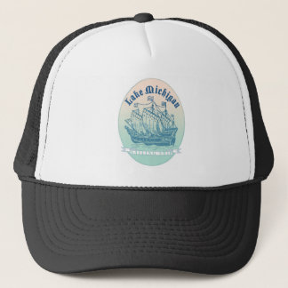 Lake Michigan Sailing Ship Trucker Hat
