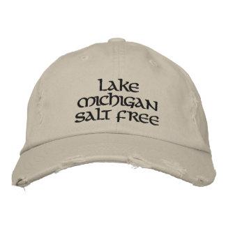 Lake michigan salt free embroidered hat