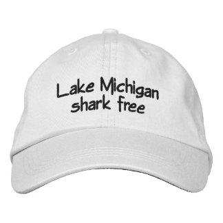 Lake Michigan - shark free Embroidered Hats