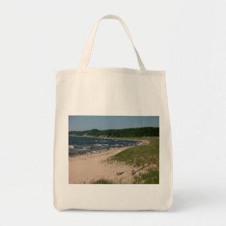 Lake Michigan Shoreline Tote Bags