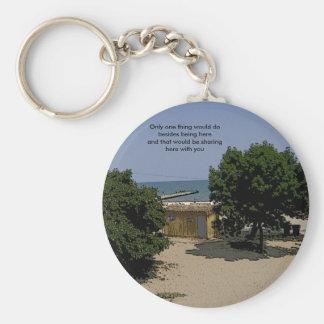 Lake Michigan Shorelines Basic Round Button Key Ring