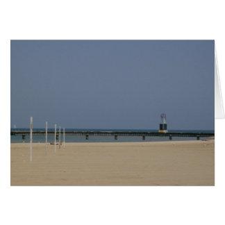 Lake Michigan Shores Beacon Light Greeting Cards