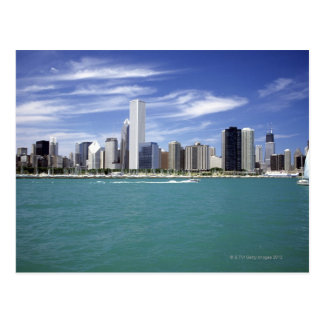 Lake Michigan, Skyline, Travel Destinations, Postcard