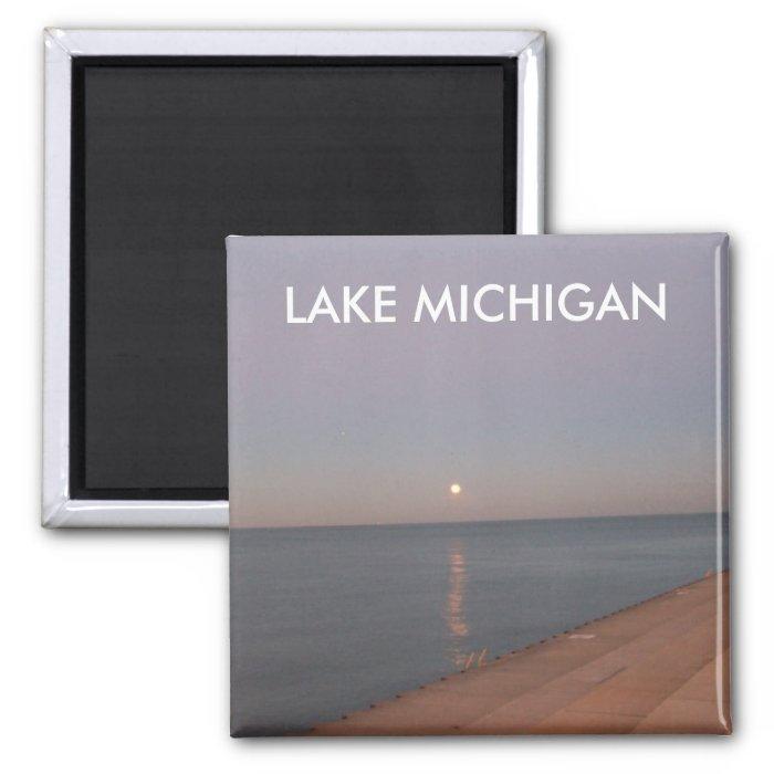 LAKE MICHIGAN SQUARE MAGNET
