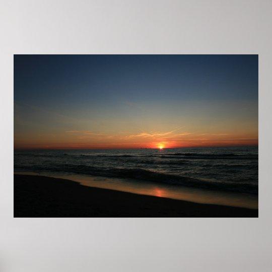 Lake Michigan Sunset 2 Poster