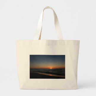 Lake Michigan Sunset 2 Tote Bags