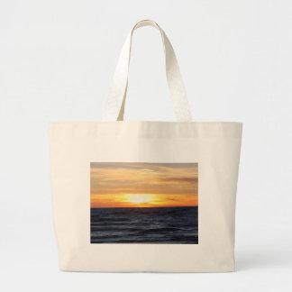 Lake Michigan Sunset Canvas Bags