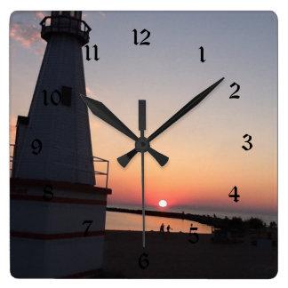 Lake Michigan Sunsetl Clock