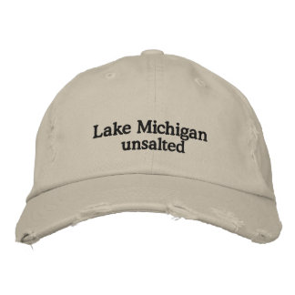 LAKE MICHIGAN - unsalted Embroidered Hats