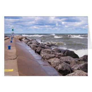 Lake Michigan Waves Greeting Card
