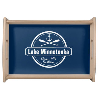 Lake Minnetonka Minnesota anchor town and name Serving Tray