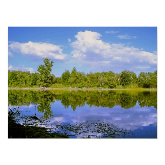 Lake Mirror in the Spring Poster