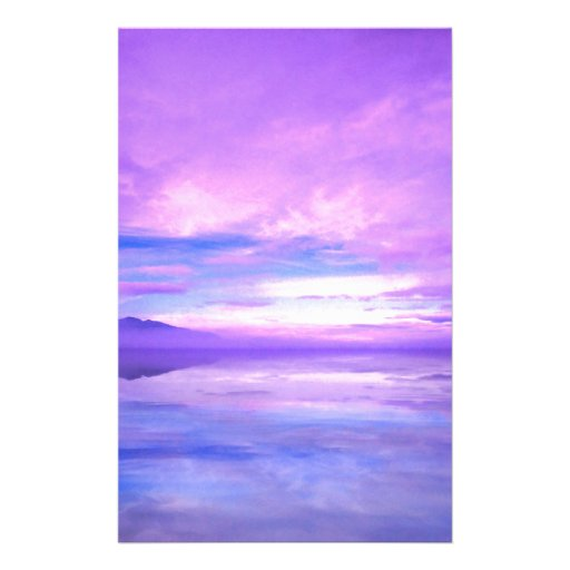 Lake Mirrored Serenity Hood Canal Seabeck Custom Stationery