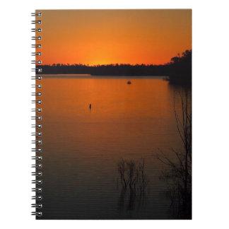 Lake Monduran sunset notebook
