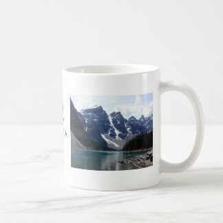 lake_moraine, THE LOVE IN YOUR HEART IS GIVEN F... Basic White Mug