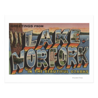 Lake Norfork, Arkansas - Large Letter Scenes Postcard