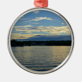 Lake Of The Ozarks Blue Sunset Christmas Ornament