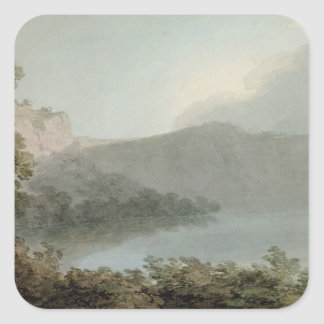 Lake of Vico Between Rome and Florence, 1783 (grap Square Sticker
