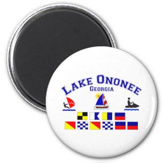Lake Ononee GA Signal Flags 6 Cm Round Magnet