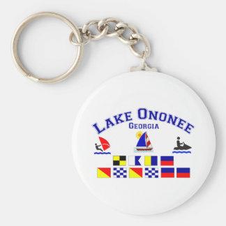 Lake Ononee GA Signal Flags Basic Round Button Key Ring