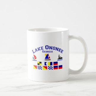 Lake Ononee GA Signal Flags Basic White Mug