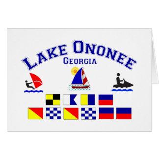 Lake Ononee GA Signal Flags Greeting Card